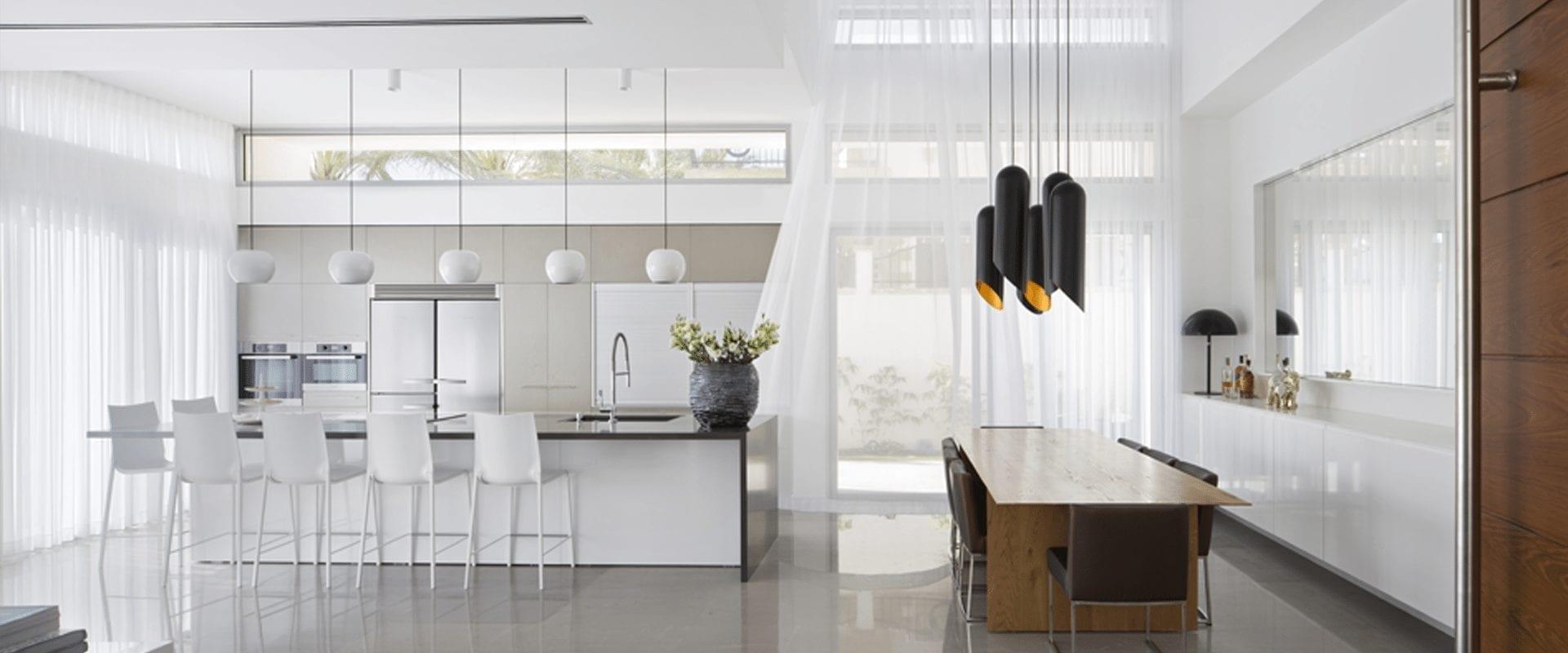 פורצלן למטבח לבן - דגם פורצלן נקי בצבע לבן