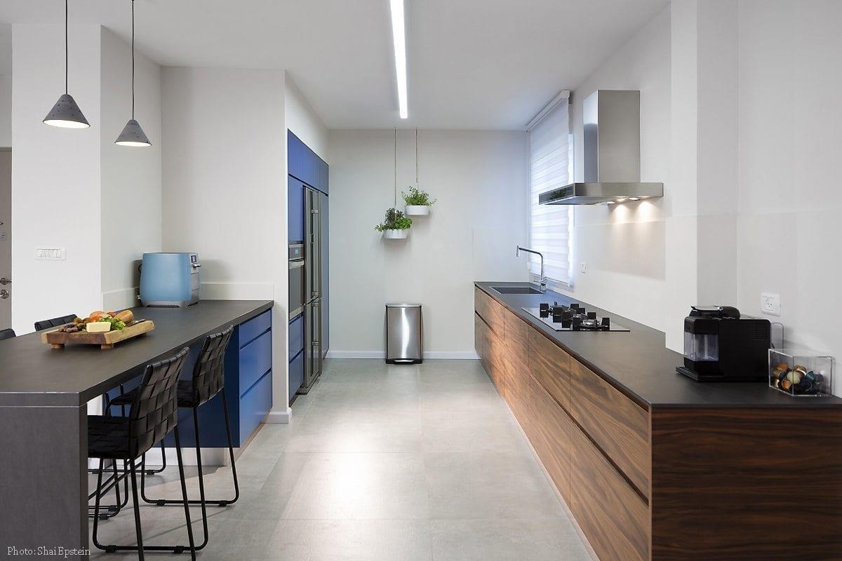 מטבח כחול רויאל - Semel Kitchens