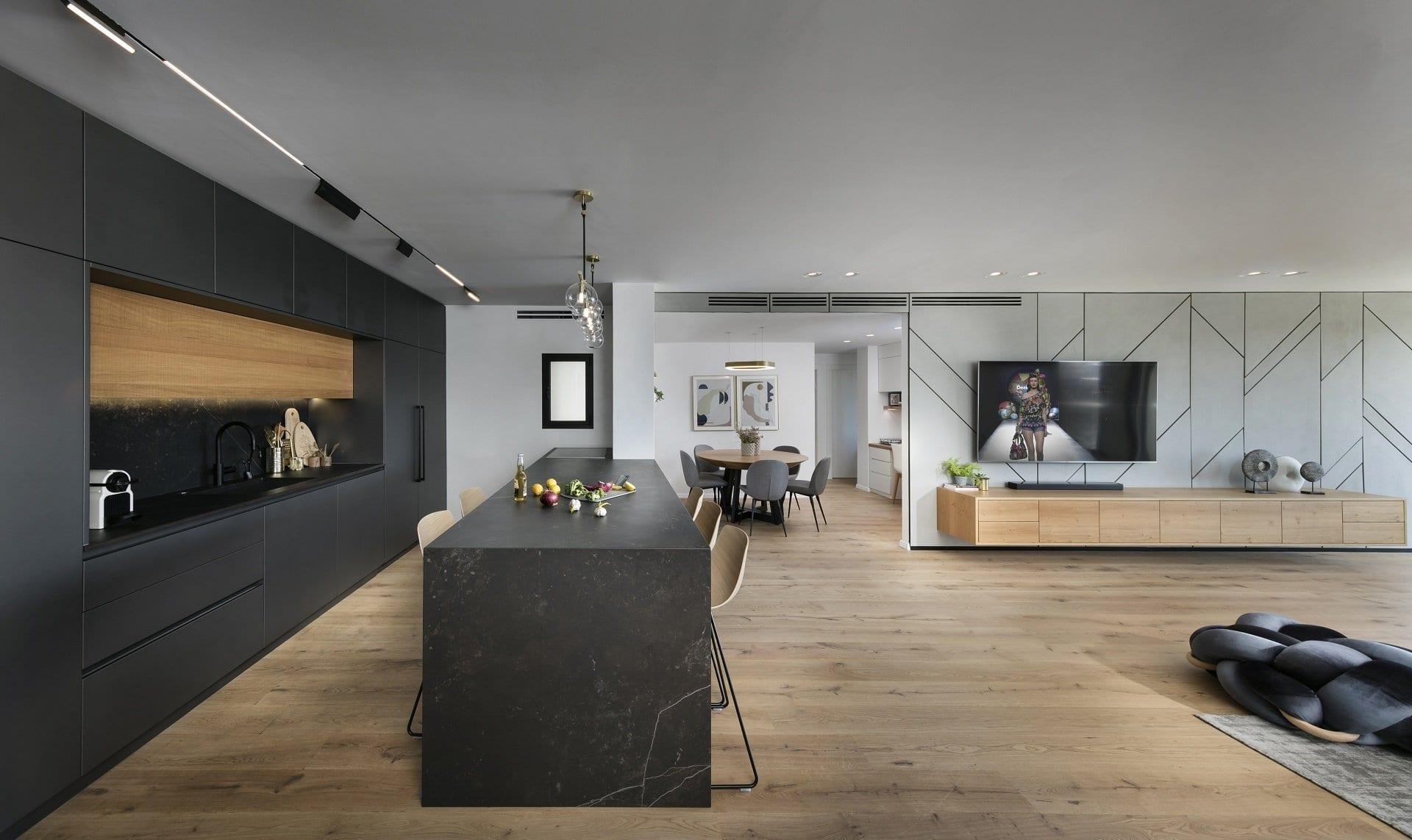 מטבח אפור גרפיט - Semel Kitchens